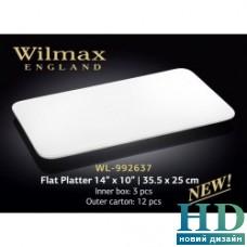 Блюдо прямоугольное плоское Wilmax (355х250 мм)