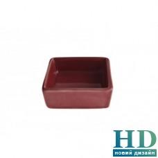 Салатник квадратный красный FoREST Fudo 754090 (6,5 см, 50 мл)