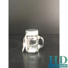 Диспенсер для соли и перца стеклянный 150мл с ручкой