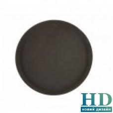 Поднос круглый коричневый из стекловолокна, 40 см