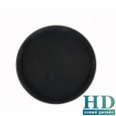 Поднос круглый черный из стекловолокна, 40см.