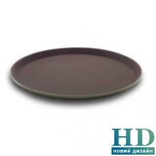 Поднос круглый коричневый из стекловолокна FoREST (40 см)
