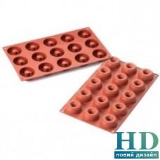 Mini Donuts Форма силиконовая Silikomart (d 45-15 мм, h 18 мм)