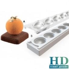 MUL3D/ 48A+B Форма силиконовая для пирожен Silikomart (с крышкой и подставкой, d 48 мм, 58 мл)