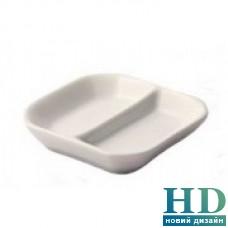 Менажница для соусов на 2 части квадратная; 80*80 мм;