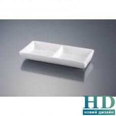 Менажница для соусов на 2 части прямоугольная; 150*60 мм;