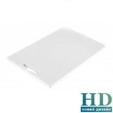 Доска разделочная белая с отверстием; 380*260*10 мм;