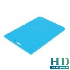Доска разделочная голубая с отверстием; 380*260*10 мм;