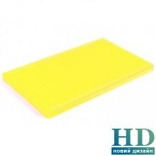 Доска разделочная желтая с канавкой; 500*400*20 мм;