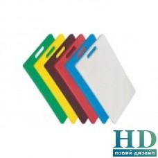 Доска разделочная зеленая с отверстием; 380*260*10 мм;