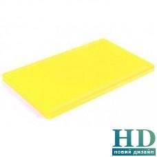 Доска разделочная желтая с канавкой; 400*300*20 мм;