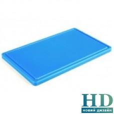 Доска разделочная голубая с канавкой; 400*300*20 мм;