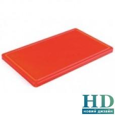 Доска разделочная красная с канавкой; 400*300*20 мм;