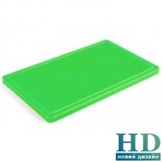 Доска разделочная зеленая с канавкой; 400*300*20 мм;