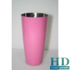 Шейкер Бостон розовый 0,8л