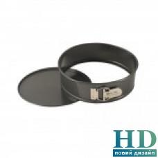 Разъемная форма для выпечки алюминиевая черная д.22,5 см