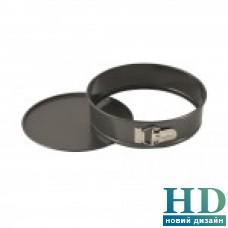 Разъемная форма для выпечки алюминиевая черная д.25см