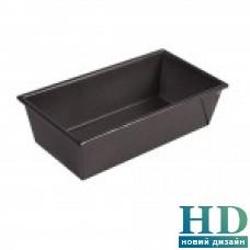 Форма для кекса алюминиевая черная  25*12,5*7,5см