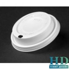 Крышка пластиковая белая с 'поилкой'  для стакана 10J10 и 12FJ10 100 шт/уп