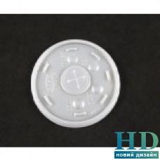 Крышка пластиковая прозрачная с крестиком для стакана 10J10 и 12FJ10 100шт/уп