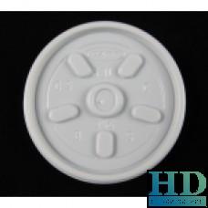 Крышка пластиковая белая универсальная для стакана 77121, 77140, 06024, 100шт/уп