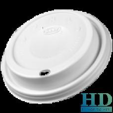 Крышка пластиковая белая с поилкой для стаканов 8J8 и 8X8 100 шт/уп