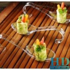 Ложка пластиковая изогнутая прозрачная 12см, 10 шт/уп