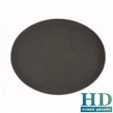 Поднос овальный коричневый из стекловолокна, 55*68 см