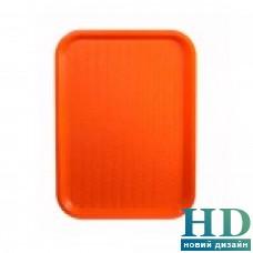 Поднос пластмассовый для фаст-фудов 25*35см, оранжевый