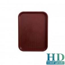 Поднос пластмассовый для фаст-фудов 25*35см, бордовый