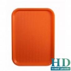 Поднос пластмассовый для фаст-фудов 30*40см, оранжевый