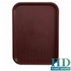 Поднос пластмассовый для фаст-фудов 30*40см, бордовый