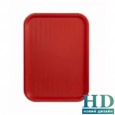 Поднос пластмассовый для фаст-фудов 35*45см, красный