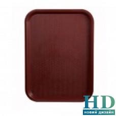 Поднос пластмассовый для фаст-фудов 35*45см, бордовый