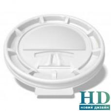 Крышка пластиковая белая универсальная с поилкой для стакана 42118, 42119, 42248, 42600 100 шт/уп