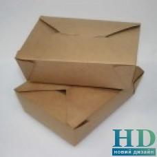 Контейнер бумажный BIOPACK 15*12*6,25см, коричневый, 300шт/уп