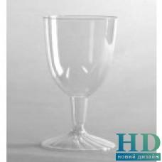 Бокал стеклоподобный для вина на ножке 148 мл 2 предмета 20 шт/уп