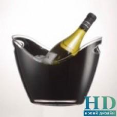 Винное ведро акриловое на 2 бутылки черное Prodyne