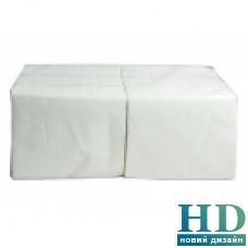 Салфетка белая 2 слоя 33*33 см 200 шт/уп