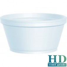 Супная емкость из вспененного полистирола, 340мл, 25шт/уп
