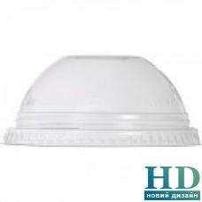 Крышка пластиковая прозрачная купол с отверствием для стакана 74004 100 шт/уп