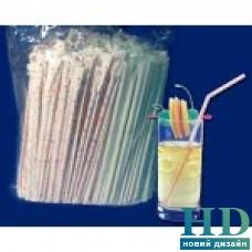 Соломка для фреша в индивидуальной бумажной упаковке прозрачная  210 мм,200 шт/уп