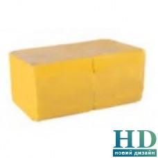 Салфетка барная однослойная желтая 24х24см, 500 шт/уп