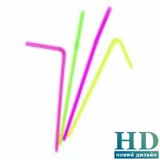 Соломка люминисцентная с коленом 210мм, 200шт/уп