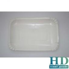 Тарелка бумажная прямоугольная ламинированая., 140х200мм 400шт/ящ