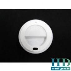 Крышка пластиковая белая с поилкой для бумажного стакана 250 мл 77040, 50 шт/уп