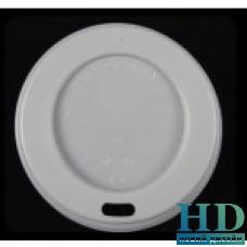 Крышка пластиковая белая с поилкой для бумажного стакана 150 мл 50 шт/уп