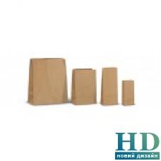 Пакет бумажный без ручек бурый крафт 195*95*65  мм 500 шт/уп