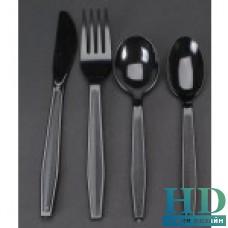 Вилка столовая пластиковая черная* 1000 шт/ящ