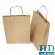 Пакет бумажный с ручками 250*355*130  мм 25 шт/уп